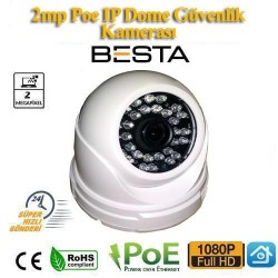 2 MP 1080P 30 LED IP POE GÜVENLİK KAMERASI (BT-0948)