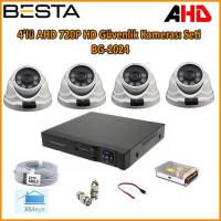 4 Kameralı AHD 720P HD Güvenlik Kamerası Seti BG-1024