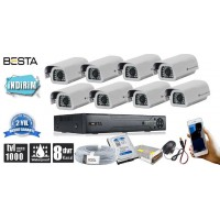 1000tvl 8 Dış Mekan Güvenlik  Kamera Seti hdd Dahil  BG-1040