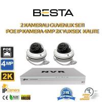2 Kameralı 4MP 2K 2.8-12MM Varfiocal IP POE Güvenlik Seti BG-1122