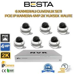 6 Kameralı 4MP 2K 2.8-12MM Varfiocal IP POE Güvenlik Seti BG-1126