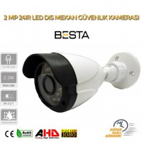 2MP AHD IR CAM 3.6MM 24 LED  Bullet  Güvenlik Kamerası BT-1244