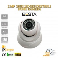 2 mp 1080p 36LED SES DESTEKLİ IP DOME GÜVENLİK KAMERASI BT-1647