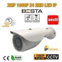 2.0 MP 1080P 24 SMD LED BULLET IP KAMERA SES DESTEKLİ BT-1807