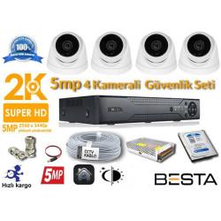 5MP 4 Kameralı  AHD Güvenlik Seti BG-1823