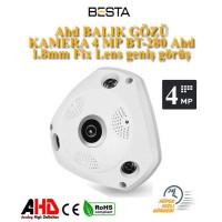 Ahd BALIK GÖZÜ KAMERA 4 MP BT-280 Ahd  1.8mm Fix Lens geniş görüş acısı