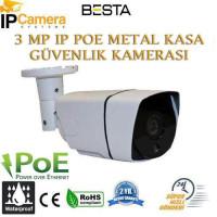 3MP IP POE H265 Metal Kasa Güvenlik Kamerası BT-3595