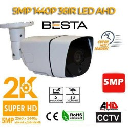 5MP AHD IR CAM 3.6MM 36LED AHD Güvenlik Kamerası (BS-4007)