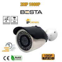 1080P 2MP HD IP POE BULLET KAMERA 42 IR LED METAL KASA BT-4819