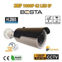 2 MP 1080P 42 LED 3.6 MM DIŞ MEKAN POE IP GÜVENLİK KAMERASI BT-5061