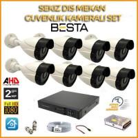2MP 1080P 8 Kameralı Ahd Güvenlik Seti BG-5209