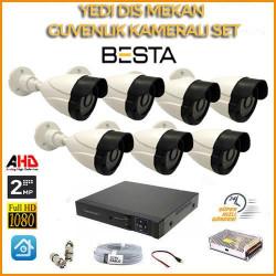 2MP 1080P 7 Dış Mekan  Kameralı Ahd Güvenlik Seti BG-5241