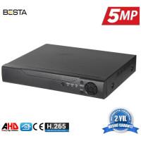 4 Kanal Ahd 5MP H265  Dvr Kayıt Cihazı Xmeye BS-804HD