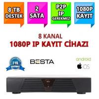 Besta NVR-5108 NVR IP 8 Kanal Kamera Kayıt Cihazı - ESEECLOUD