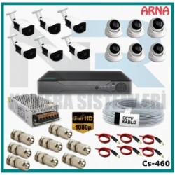 6 iç 6 dış Kameralı  Ahd Güvenlik Kamerası Sistemi CS-460
