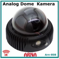 Analog Gece Görüşlü Siyah Metal Kasa ARN-808S Dome Güvenlik Kamerası