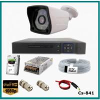 1 Kameralı 2MP 1080p  Ahd Güvenlik Kamerası Sistemi CS-841