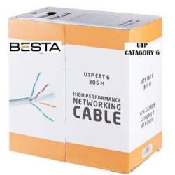 Cat6 305 Metre Cat 6 Kablo 23 AWG İp Kamera Kablosu