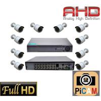 Picam 10 Kameralı Güvenlik Kamera Sistemi Ahd 2MP Gece Görüşlü Su Geçirmez