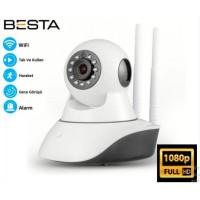 1080p 2MP 360 derece Full hd kablosuz ip güvenlik kamerası wifi gece görüşlü 64GB