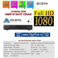 Besta NVR-8316 NVR IP 16 Kanal Kamera Kayıt Cihazı - ESEECLOUD