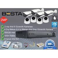 Besta BS-128 4 Dış mekan 4 iç Mekan  Kameralı Herşey dahil Güvenlik kamera seti