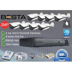 Besta BS-108 8Dış mekan Kameralı Herşey dahil Güvenlik kamera seti
