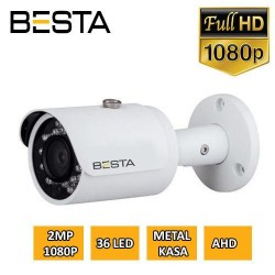 Besta BT-9638 2MP Ahd 1080P 36 Led Metal Kasa Güvenlik Kamerası