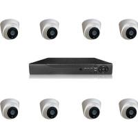 Picam 2Mp  8 Kameralı  Güvenlik Kamera Seti İç Ortam Dome Kamera Seti  500gb diskli model