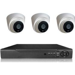 Picam pi203 Dome Güvenlik Kamera Seti İç Ortam 3 kameralı Set Gece Görüşlü 2MP AHD
