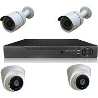 Picam pi2440  Dome Güvenlik Kamera Seti 2 DIŞ 2 İÇ 4 kameralı Set Gece Görüşlü 2MP AHD
