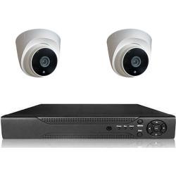 Picam pi202 Dome Güvenlik Kamera Seti İç Ortam 2 kameralı Set Gece Görüşlü 2MP AHD