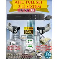 Besta KD-4152 2Mp Ahd 1080P Gece Görüşlü 2 Kameralı Güvenlik Sistemi ( 500GB HDD )