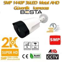 5 MP 1440P Gece Görüşlü FULL HD AHD Güvenlik Kamerası BT-5055