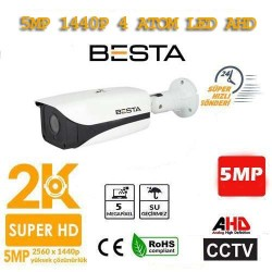 5MP Ahd 1440P Metal Kasa Gece Görüşlü Su Geçirmez Güvenlik Kamerası