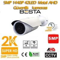 5MP Ahd 1440P 42 Led Metal Kasa Dış Ortam Güvenlik Kamerası