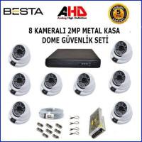 Besta KD-1123 2Mp Ahd 1080P Gece Görüşlü 8 Kameralı Dome Güvenlik Sistemi