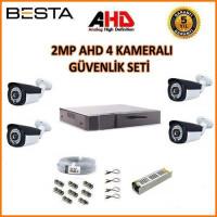 Besta BG-1624 2Mp Ahd 1080P Gece Görüşlü 4 Kameralı  Güvenlik Sistemi
