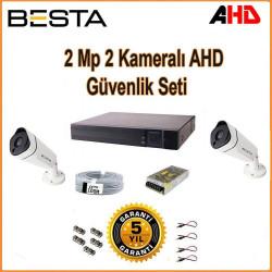 Besta KD-1812 2Mp Ahd 1080P Gece Görüşlü 2 Kameralı Güvenlik Sistemi
