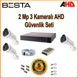 Besta KD-1813 2Mp Ahd 1080P Gece Görüşlü 3 Kameralı Güvenlik Sistemi