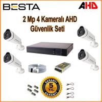 Besta KD-1814 2Mp Ahd 1080P Gece Görüşlü 4 Kameralı Güvenlik Sistemi