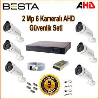 Besta KD-1816 2Mp Ahd 1080P Gece Görüşlü 6 Kameralı Güvenlik Sistemi