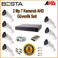 Besta KD-1817 2Mp Ahd 1080P Gece Görüşlü 7 Kameralı Güvenlik Sistemi