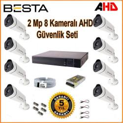 2Mp Ahd 1080P Gece Görüşlü 8 Kameralı Güvenlik Sistemi Besta BG-1818
