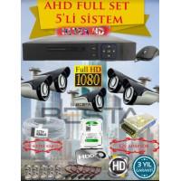Besta KD-4155 2Mp Ahd 1080P Gece Görüşlü 5 Kameralı Güvenlik Sistemi ( 500GB HDD )