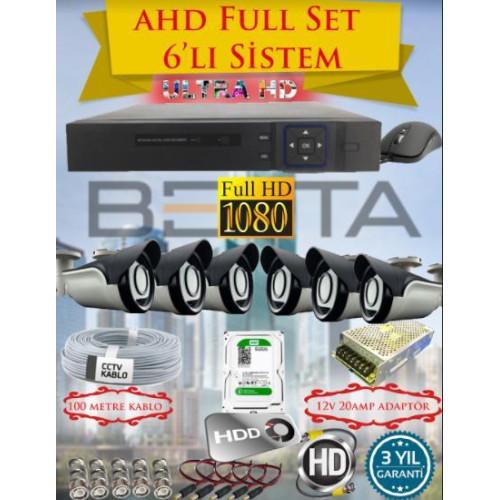 Besta KD-4156 2Mp Ahd 1080P 6 Kameralı Güvenlik Seti