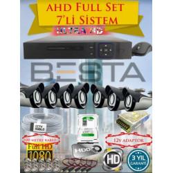 Besta KD-4157 2Mp Ahd 1080P 7 Kameralı Güvenlik Seti