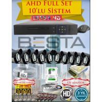Besta KD-4160 2Mp Ahd 1080P Gece Görüşlü 10 Kameralı  Güvenlik Sistemi - 500GB HDD