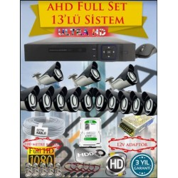 Besta KD-4163 2Mp Ahd 1080P Gece Görüşlü 13 Kameralı  Güvenlik Sistemi - 500GB HDD
