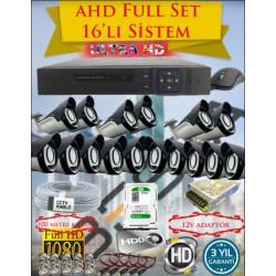 Besta KD-4166 2Mp Ahd 1080P 16 Kameralı Güvenlik Seti